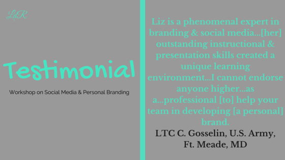 Personal Branding Workshop, April 15, 2015
